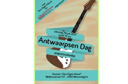 AntwerpseMuziek – 2017-07-29 Antwaarpsen Dag – Programmaboekje Voorblad