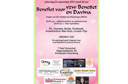 AntwerpseMuziek – 2017-09-23 Benefiet voor vzw Benetiet en Davina