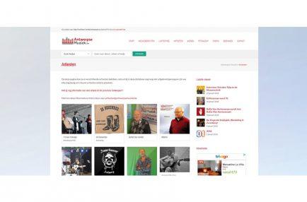 AntwerpseMuziek – website database