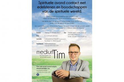 Medium Tim – Flyer Spirituele avond
