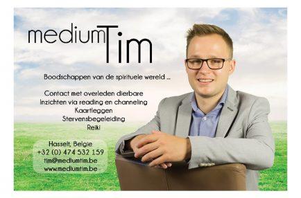 Medium Tim – Visitekaartje – Achterkant