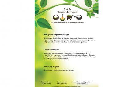 S&D Tuinonderhoud – Flyer Algemeen A5 – Achterkant