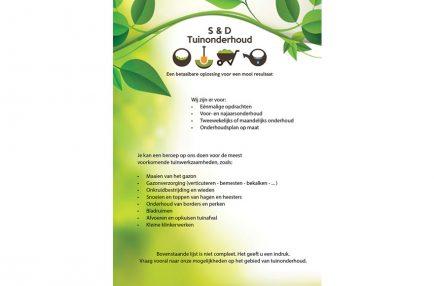 S&D Tuinonderhoud – Flyer Algemeen A5 – Voorkant